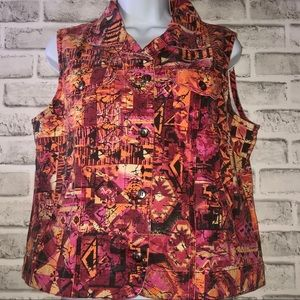 Chico's Vintage Colorful Sleeveless Top, Sz. 1